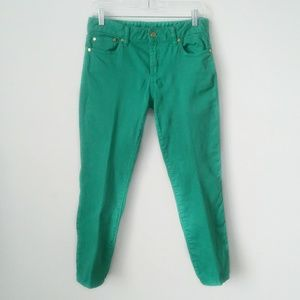 Tory Burch Alexa Crop Skinny jeans green size 28